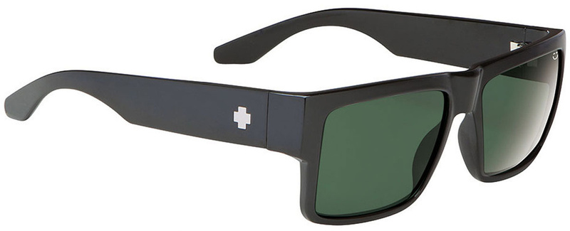 SPY Cyrus Black with Happy Grey Green Lens Mens Sunglasses