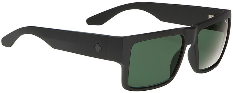 SPY Cyrus Matte Black Sunglasses with Happy Grey Green Lens