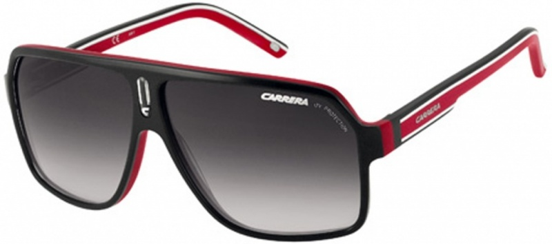 Carrera 27 Black, Red, Crystal and White Sunglasses Grey Lenses