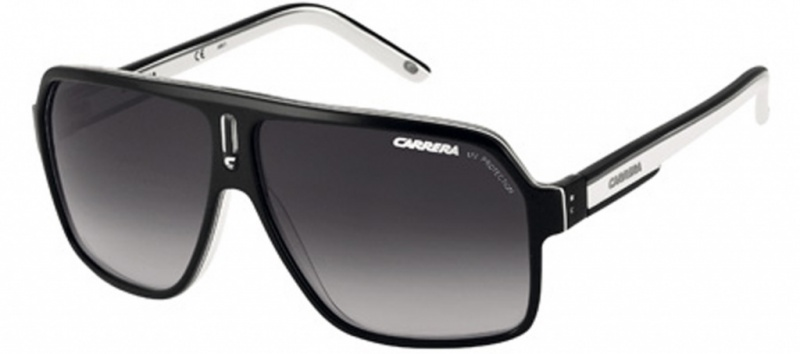 Carrera 27 Sunglasses Black, Crystal, White and Grey, Grey Lenses