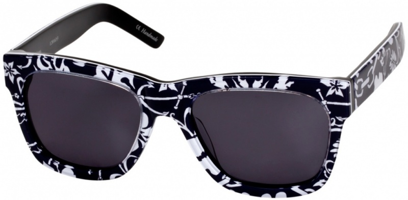 Ksubi Ara Black and White Print with Grey Lenses