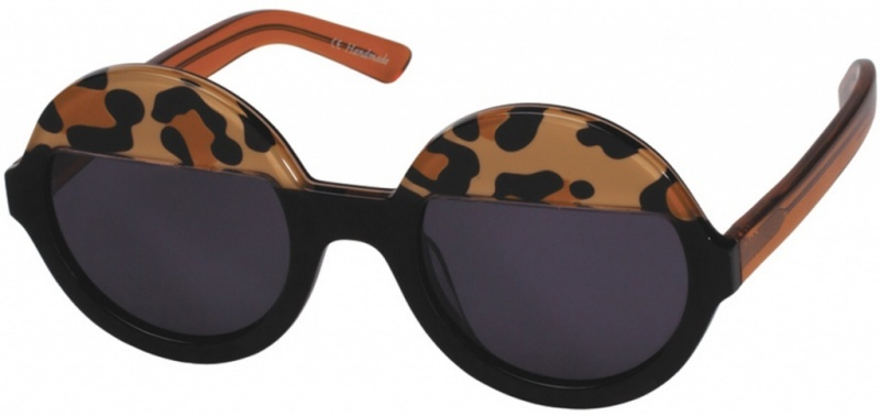 Ksubi Bellatrix Leopard Black with Smoke Mono Lenses
