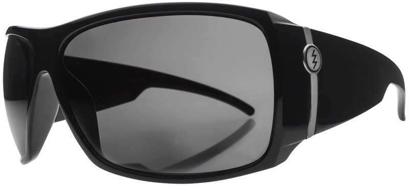 Electric Big Beat Sunglasses Gloss Black with Grey Polarised Lenses
