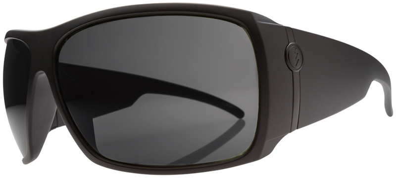 Electric Big Beat Matte Black Sunglasses with Grey Lenses