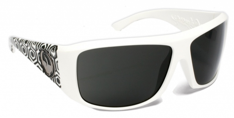 Dragon Calaca White Hex with Grey Lenses