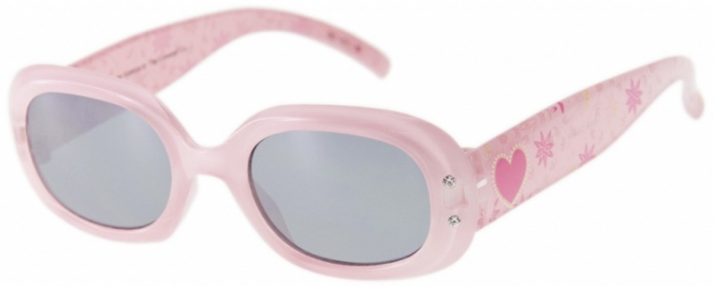 Light Pink with Heart/Grey Lenses