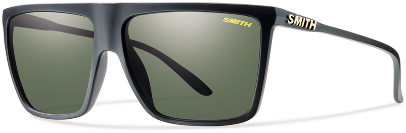 Smith Cornice Matte Black Sunglasses Polarised Gray Green Lenses