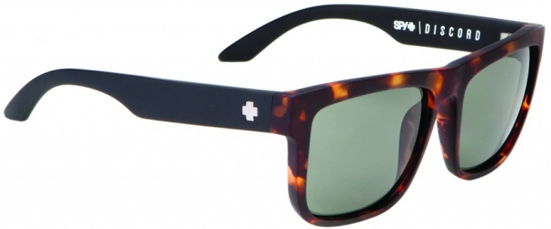 Spy Sunglasses Discord Vintage Tort with Grey Green Lenses