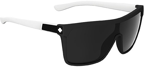 Spy Flynn Matte Ebony and Ivory Sunglasses Grey Lenses