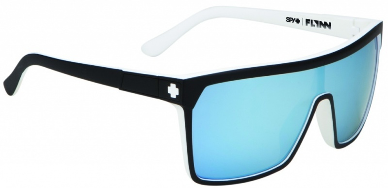Spy Flynn Whitewall with Blue Spectra Lenses Mens Sunglasses