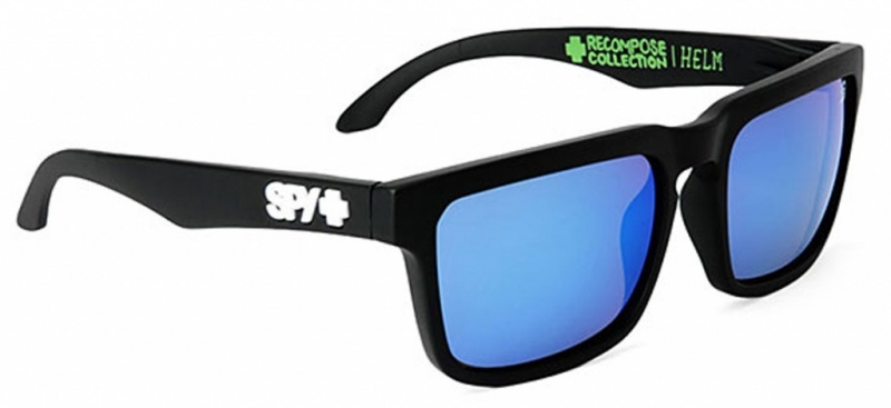 Spy Sunglasses Helm Surfrider Foundation Matte Black, Bronze Blue Spectra Lenses