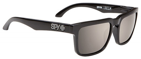 Spy Helm Black Sunglasses HAPPY Bronze Polarised, Black Mirror Lenses