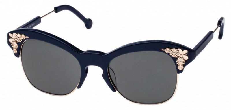 Preen Sunglasses Kent Navy Grey Lenses