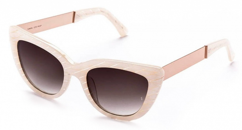 Sunday Somewhere Laura Metal Sunglasses Mother Of Pearl