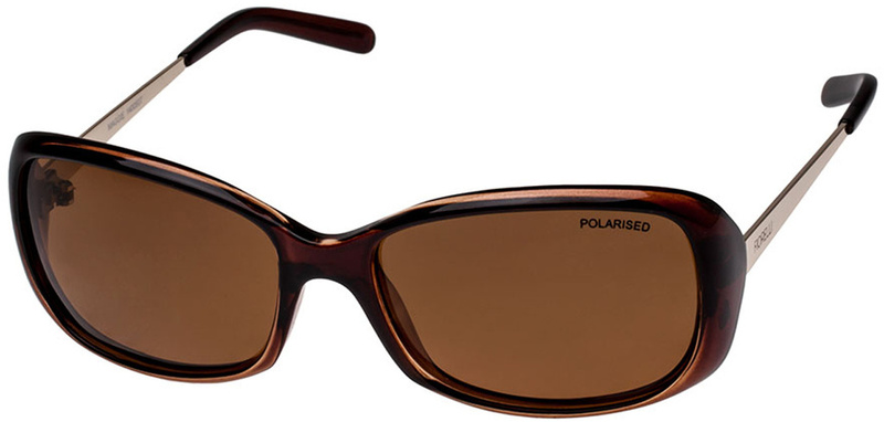 Fiorelli Maggie Sunglasses Chocolate, Brown Mono Polarised