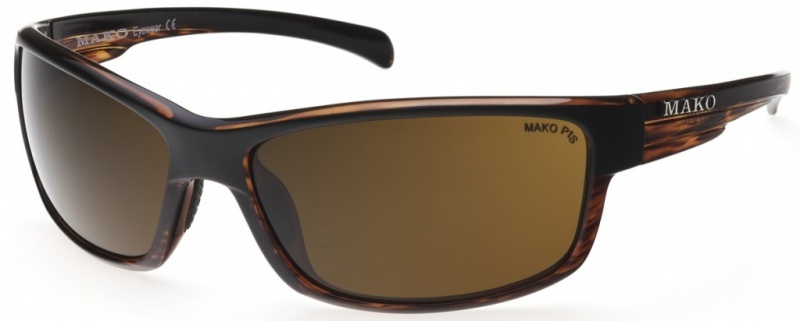 Mako Shadow Matte Black Brown Tort with PC Brown Lenses