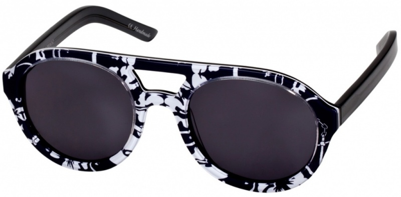 Black White Anchor Print with Smoke Mono Lenses