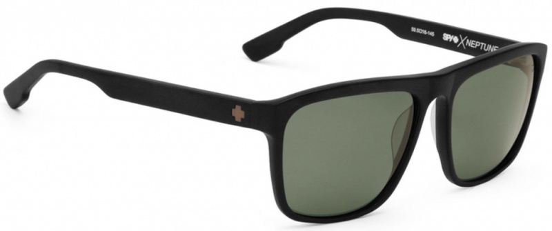 Spy Sunnies Neptune Matte Black Happy Grey Polarised