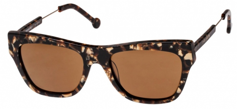 Preen Sunglasses Marble Tort Brown Lenses