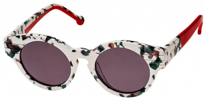 Preen Piccadilly Sunglasses Floral Gren Lenses