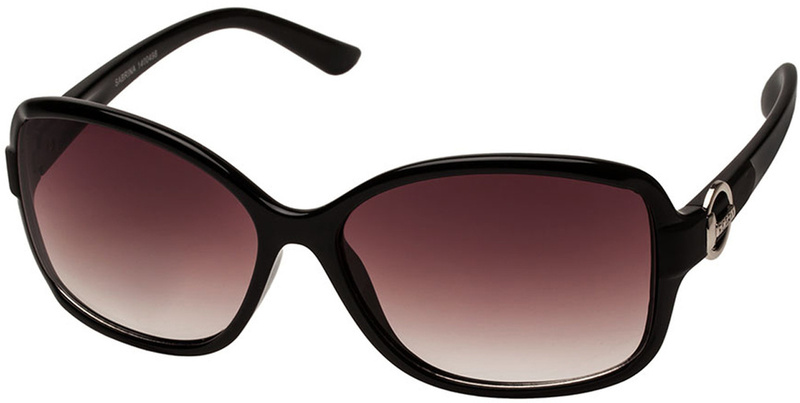 Fiorelli Sunglasses Sabrina Black, Warm Smoke Grad