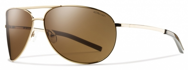 Smith Optics Eyewear Serpico Gold Sunglasses with Brown lenses