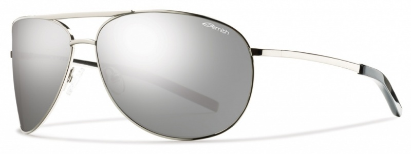 Smith Optics Serpico Silver Sunglasses Polarised Platinum lenses
