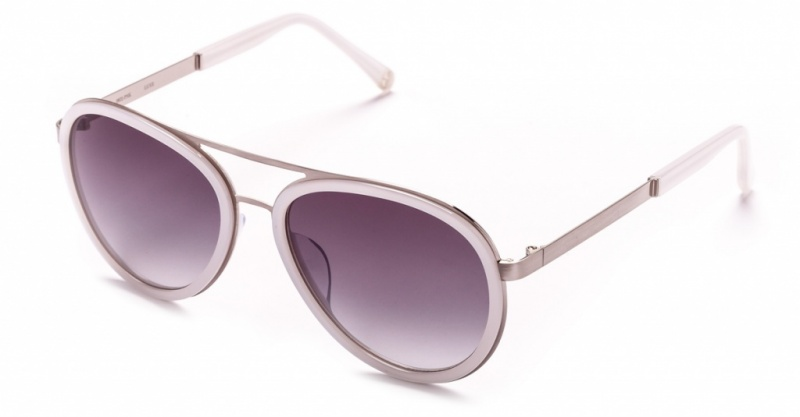 Samantha Wills Sunglasses Luxe Brushed Silver White