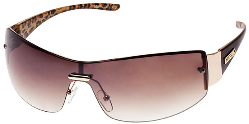 Fiorelli Sunglasses Tania Leopard, Brown Gradient, Flash Mirror